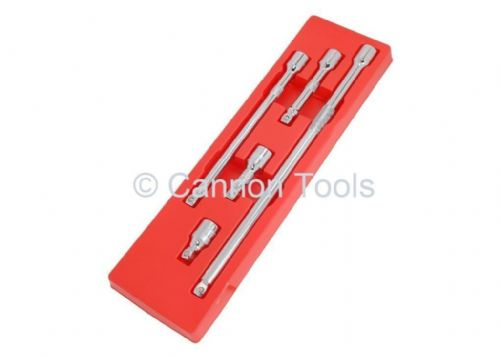 "5Pc 1/2"" Drive Extension Wobble Bar Set 50-75-125-250-375Mm Ratchet Tool"